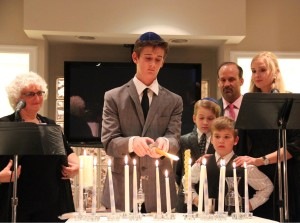 Bar Mitzvah Family Candlelighting